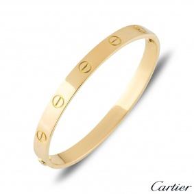 Cartier Yellow Gold Plain Love Bracelet Size 20 B6035520
